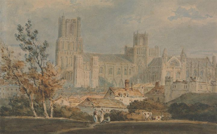 J. M. W. Turner~View of Ely Cathedra - Classical art