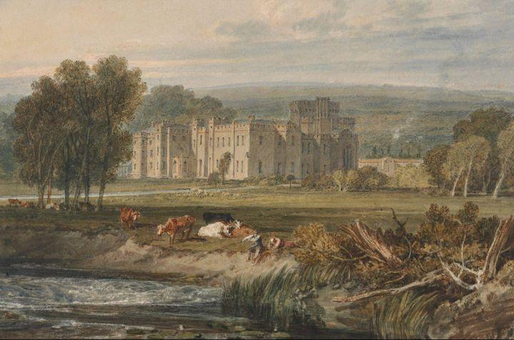 J. M. W. Turner~View of Hampton Cour - Classical art