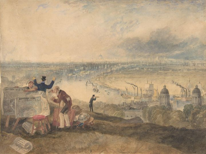 J. M. W. Turner~View of London from - Classical art