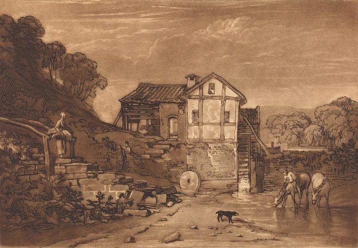 J. M. W. Turner~Water Mill - Classical art