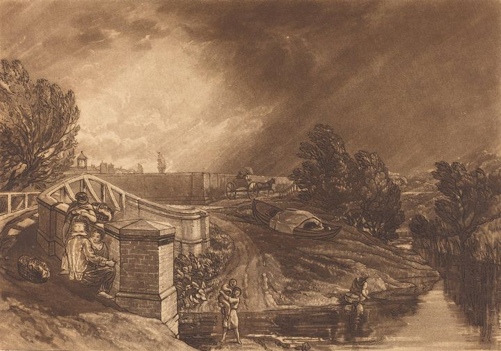 J. M. W. Turner~Watercress Gatherers - Classical art