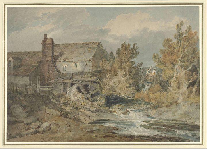 J. M. W. Turner~Watermill near a Flo - Classical art