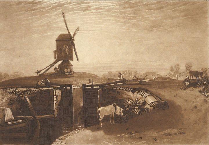 J. M. W. Turner~Windmill and Lock (L - Classical art