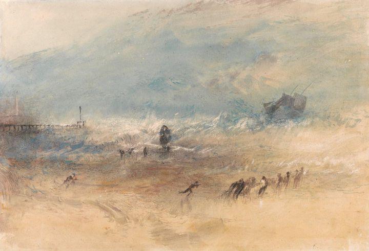 J. M. W. Turner~Yarmouth Sands - Classical art