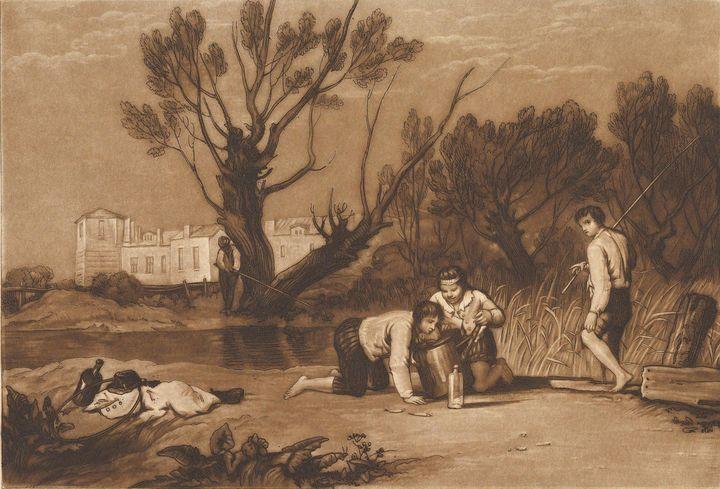 J. M. W. Turner~Young Anglers (Liber - Classical art