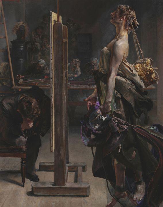 Jacek Malczewski~Inspiration of the - Classical art