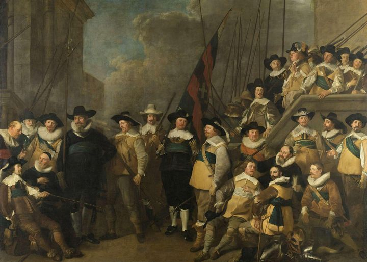 Jacob Adriaensz Backer~Officers and - Classical art