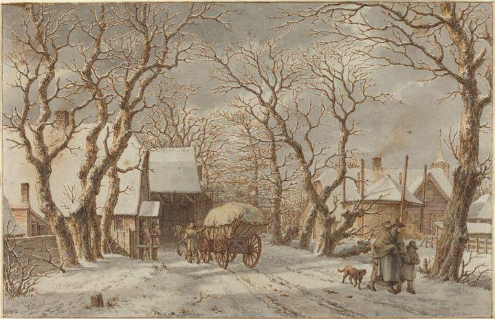 Jacob Cats~Winter Scene - Classical art