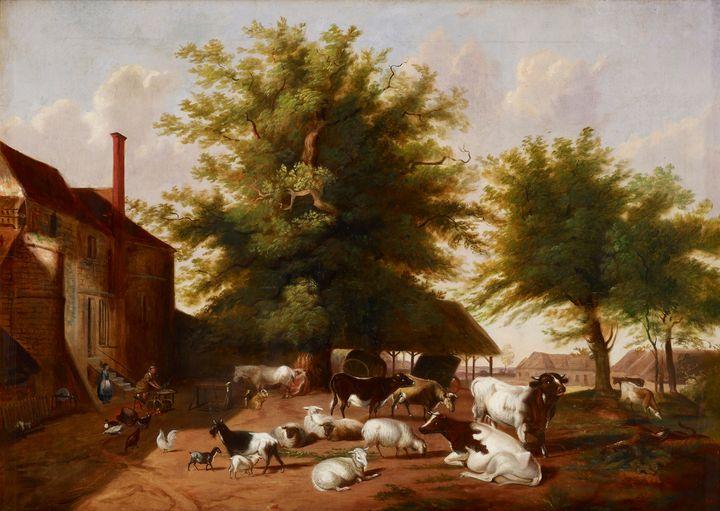 Jacob Cox~Farmyard Scene - Classical art
