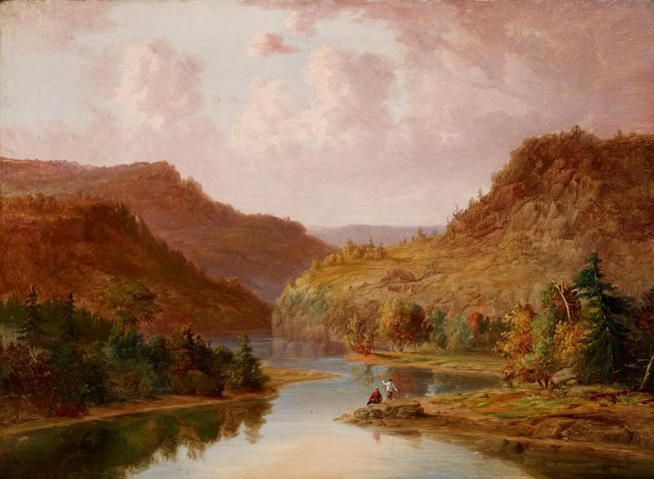 Jacob Cox~Landscape with Stream - Classical art