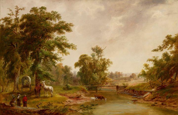 Jacob Cox~Scene in Indianapolis - Classical art