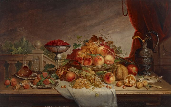 Jacob Cox~Still Life with Fruit - Classical art