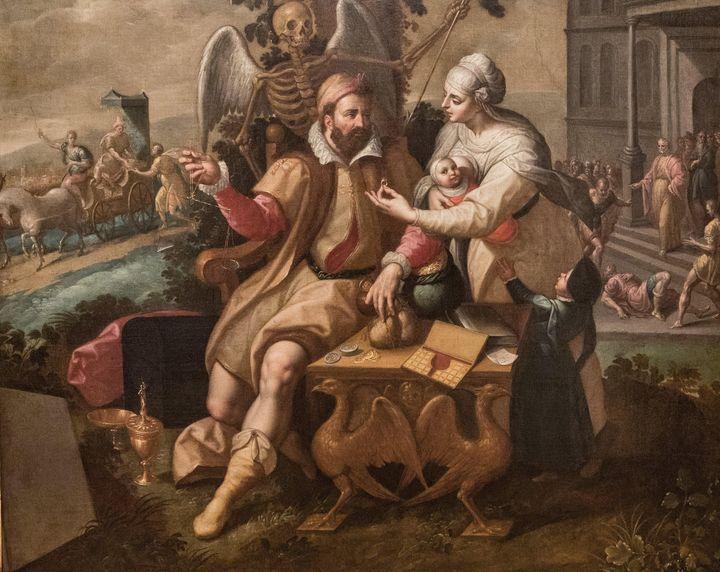 Jacob de Backer~Avarice - Classical art