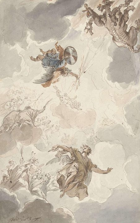 Jacob de Wit~Aartsengel MichaÇl vers - Classical art