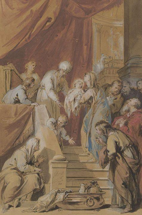 Jacob de Wit~De Opdracht in de tempe - Classical art