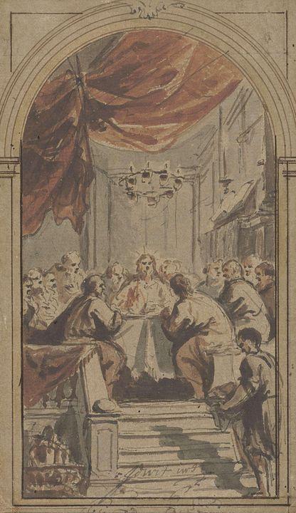 Jacob de Wit~Het Heilig Avondmaal, v - Classical art