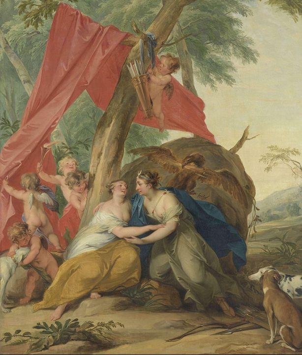 Jacob de Wit~Jupiter, Disguised as D - Classical art