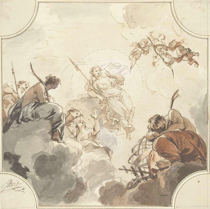 Jacob de Wit~Ontwerp voor een plafon - Classical art