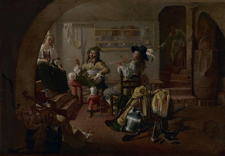 Jacob Duck~Interior with Soldiers an - Classical art