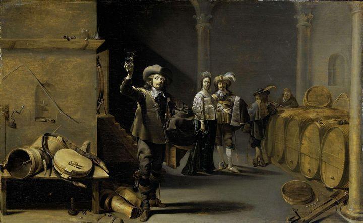 Jacob Duck~The Wine Connoisseurs - Classical art