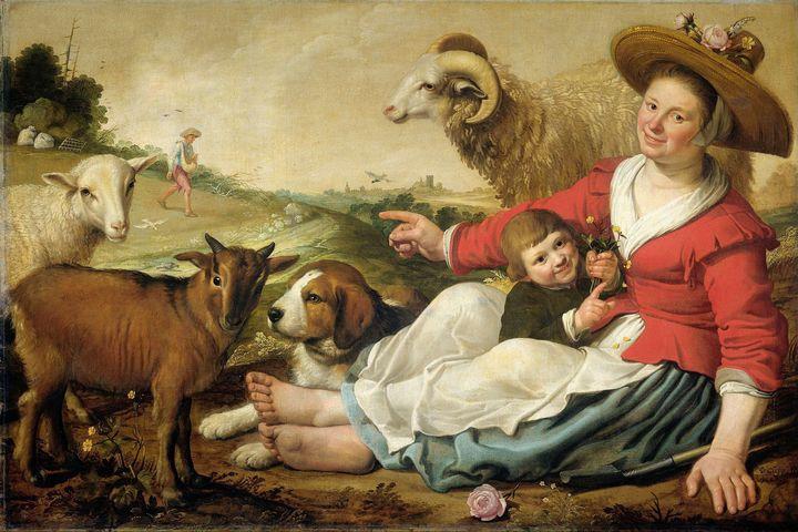 Jacob Gerritsz. Cuyp~The Shepherdess - Classical art