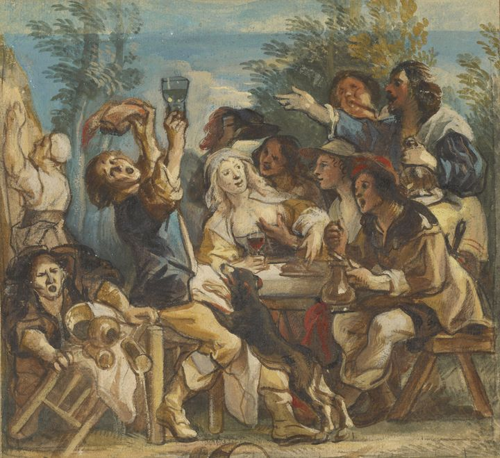 Jacob Jordaens~A Merry Company - Classical art
