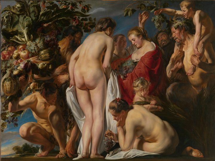 Jacob Jordaens~Allegory of Fertility - Classical art