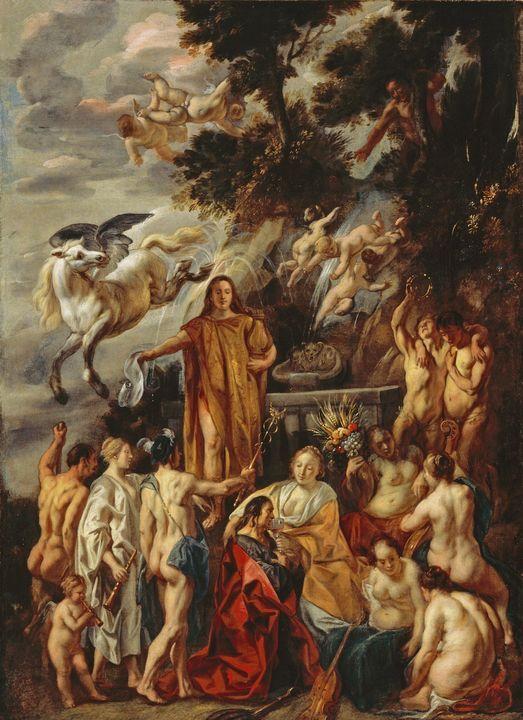 Jacob Jordaens~Allegory of the Poet - Classical art