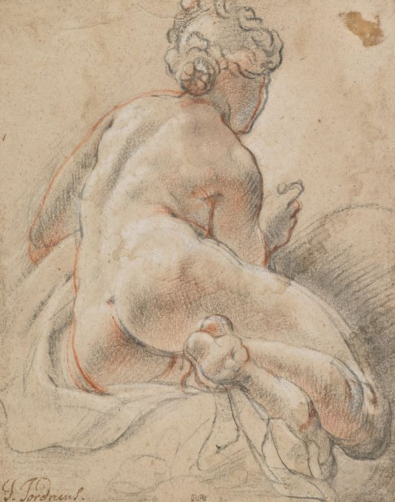 Jacob Jordaens~Female Nude, Seen fro - Classical art