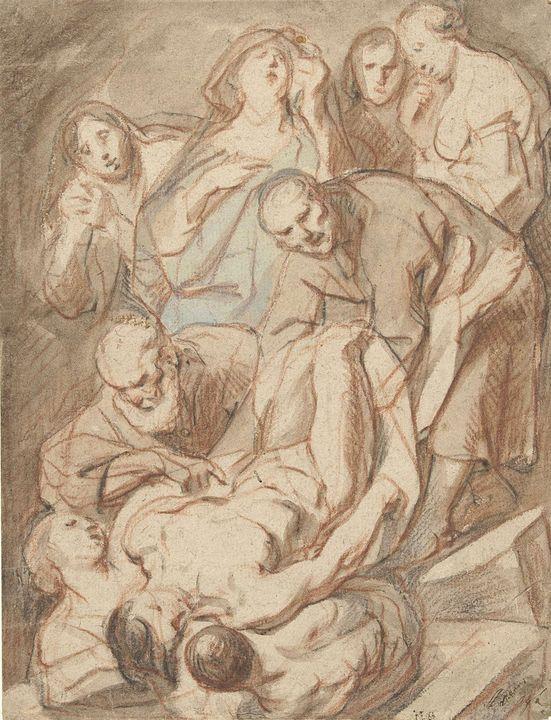 Jacob Jordaens~Graflegging - Classical art