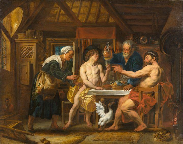 Jacob Jordaens~Jupiter and Mercury i - Classical art