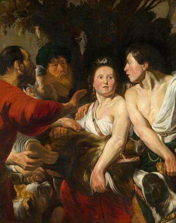 Jacob Jordaens~Meleager and Atalanta - Classical art