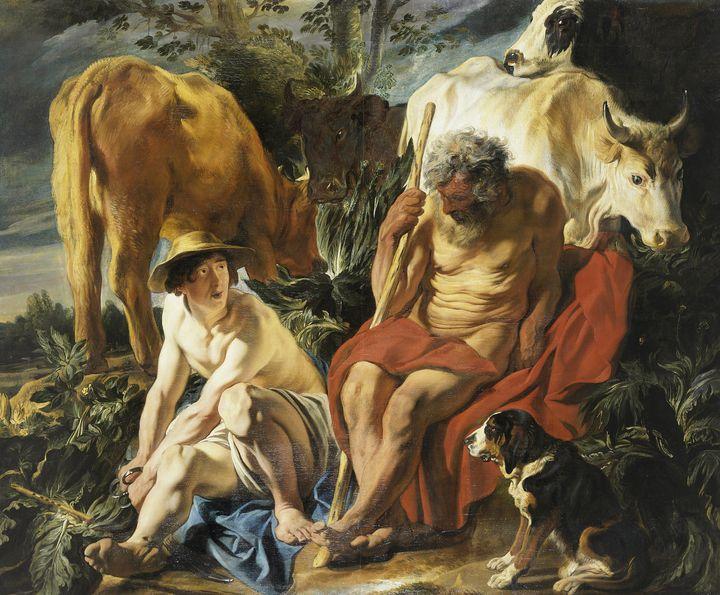 Jacob Jordaens~Mercure et Argus - Classical art