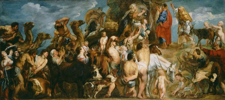 Jacob Jordaens~Moses Striking Water - Classical art