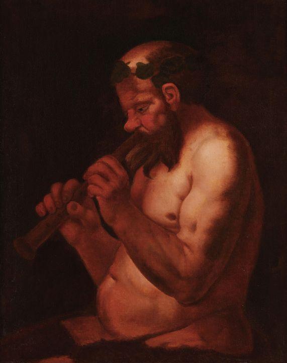 Jacob Jordaens~Pan playing the flute - Classical art