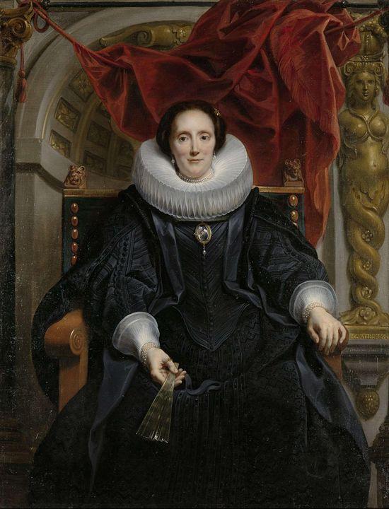 Jacob Jordaens~Portrait of Catharina - Classical art