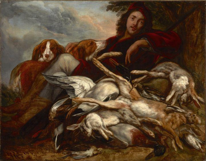Jacob Jordaens~Rest after Hunting - Classical art