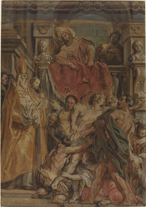 Jacob Jordaens~Saint Martin of Tours - Classical art