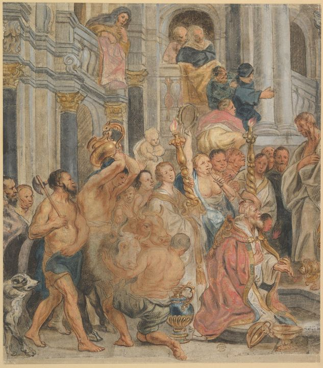 Jacob Jordaens~Saint Paul at Lystra - Classical art