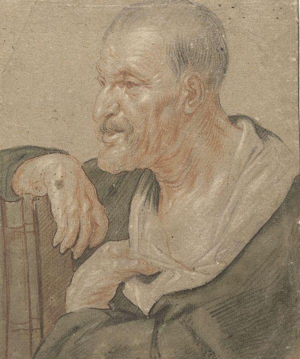 Jacob Jordaens~Schouderstuk van een - Classical art