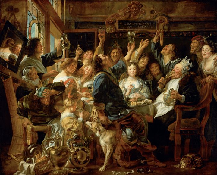 Jacob Jordaens~The Feast of the Bean - Classical art