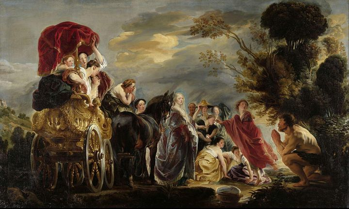 Jacob Jordaens~The Meeting of Odysse - Classical art