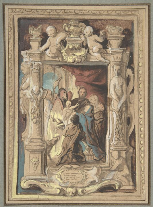 Jacob Jordaens~The Presentation in t - Classical art