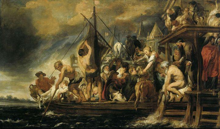 Jacob Jordaens~The Tribute Money - P - Classical art
