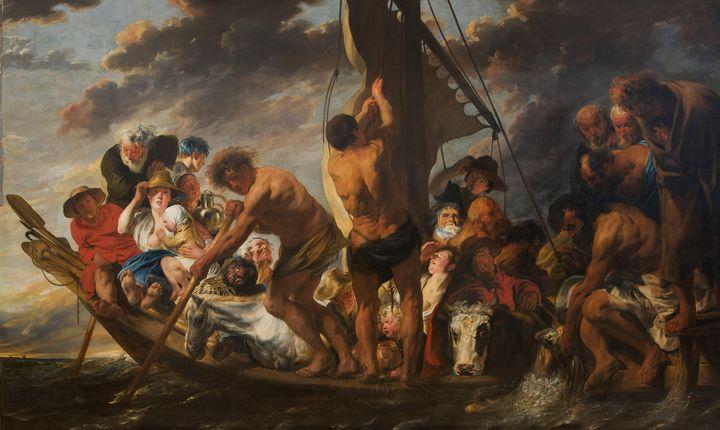 Jacob Jordaens~The Tribute Money. Pe - Classical art