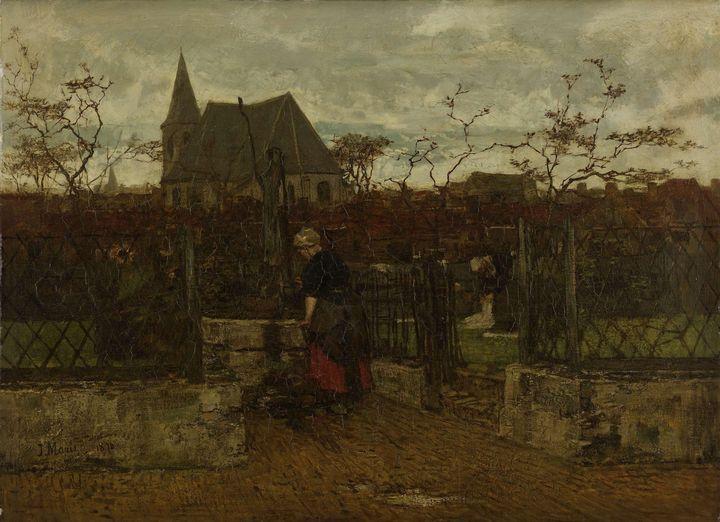 Jacob Maris~A Bleaching Field - Classical art