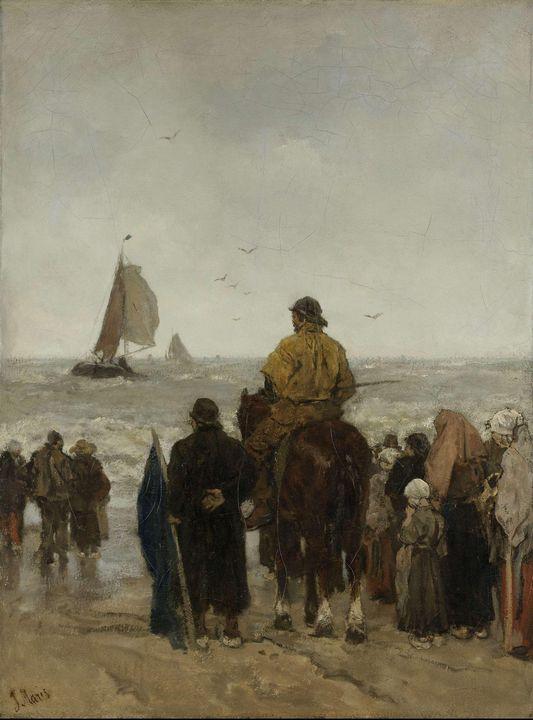 Jacob Maris~Arrival of the Boats - Classical art