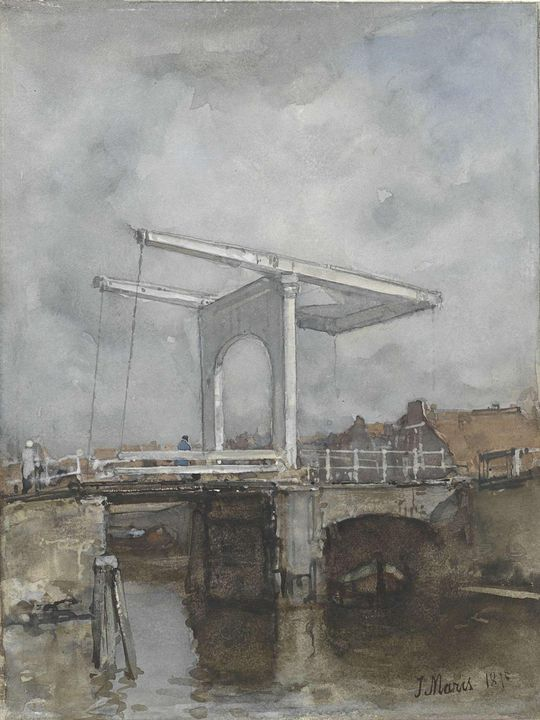 Jacob Maris~De ophaalbrug - Classical art
