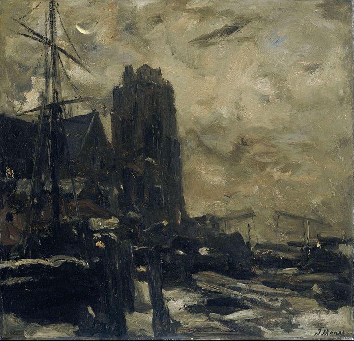 Jacob Maris~Dordrecht bij avond - Classical art