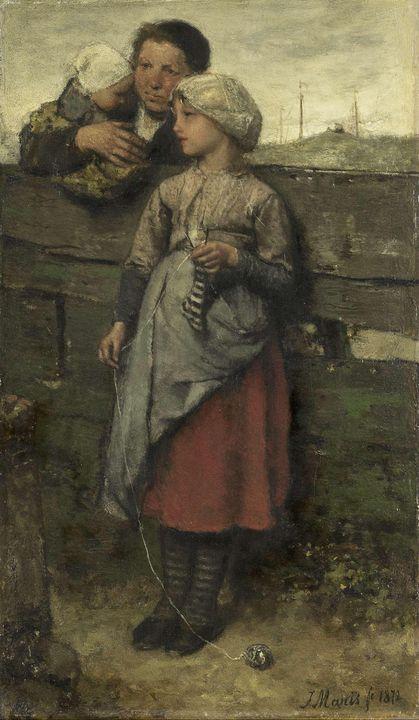 Jacob Maris~Dorpelingen - Classical art